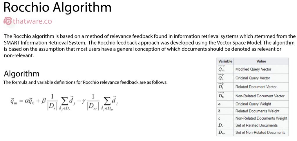 rocchio-algorithm