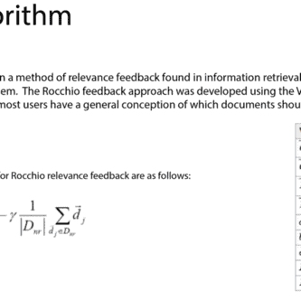 Rocchio Algorithm : The Definitive Guide