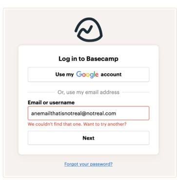 Basecamp login