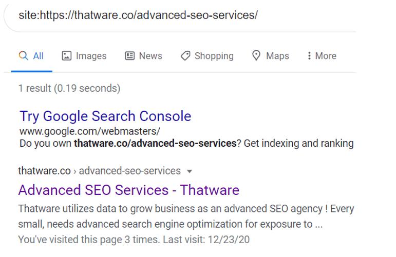 site command search seo