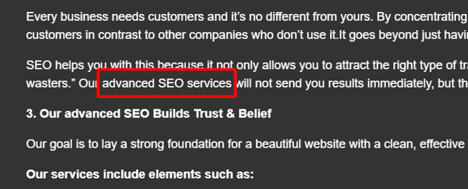 same page linking seo