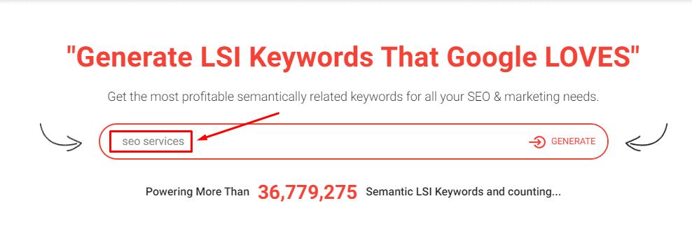 LSI keywords generation