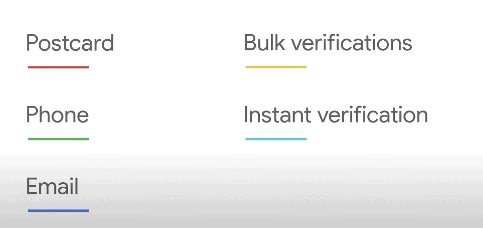 process for GMB verification