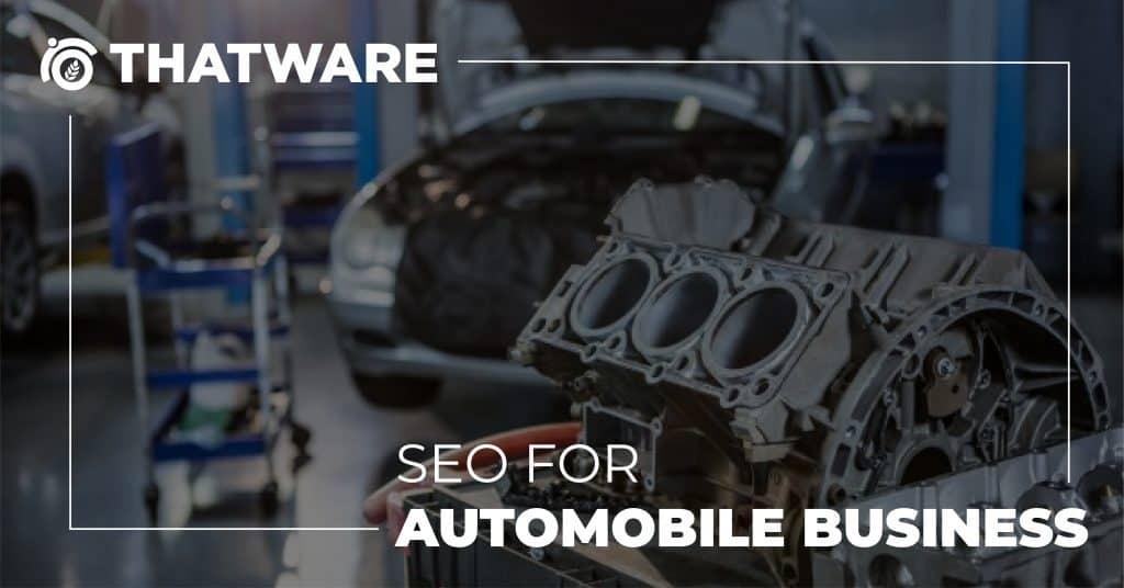 Automobile Business SEO Services
